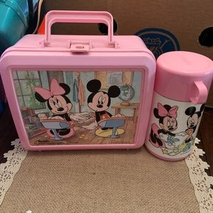 Disney Minnie Mouse Light Pink Lunch Box Thermos